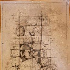 Arte: DIBUJO ABSTRACTO DE RENATO ALPEGIANI -1978 MEDIDAS 49,50 CM X 64,80CM. Lote 100302231