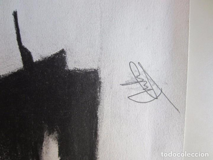 Arte: CUADRO-DIBUJO DE DON QUIJOTE A CARBONCILLO.FIRMA DE AUTOR. PINTURA. CERVANTES - Foto 3 - 100370691