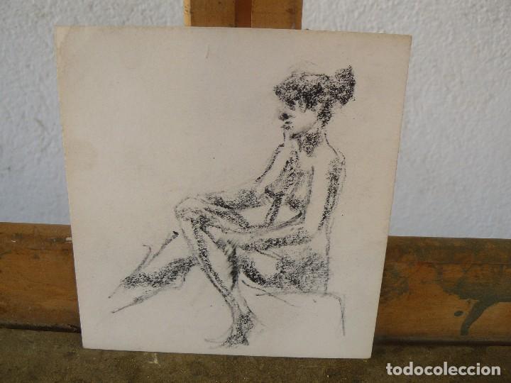 Arte: DIBUJOS A LAPIZ Y CARBONCILLO. - DESNUDOS FEMENINOS- M - - Foto 2 - 100497103