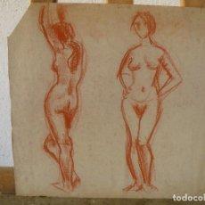 Arte: DIBUJO SANGUINA - DESNUDOS FEMENINOS - . Lote 100497403