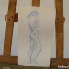 Arte: DIBUJO A TINTA - DESNUDO FEMENINO. Lote 100497655