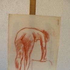 Arte: DIBUJO SANGUINA - DESNUDO FEMENINO. Lote 100499191