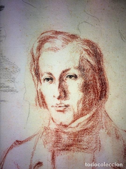 Arte: MONTAÑAS AL AMANECER. DIBUJO PASTEL SOBRE PAPEL. ANÓNIMO. ESPAÑA. XIX-XX - Foto 12 - 100729335