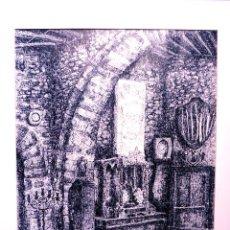 Arte: DIBUJO A TINTA.EDUARD ROSELL GIL.1983.TERRASSA.CALIDAD.BONITO MARCO.. Lote 101106083