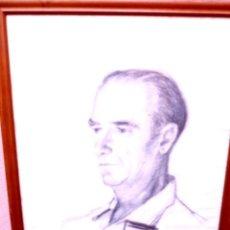 Arte: DIBUJO DE RAMÓN CORTÉS.1967.DEDICADO.PERSONAJE DESCONOCIDO. Lote 101106767