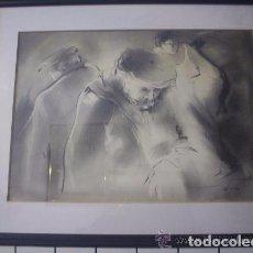 Arte: JOSEP CORES-DIBUJO AL CARBÓN. Lote 101168091