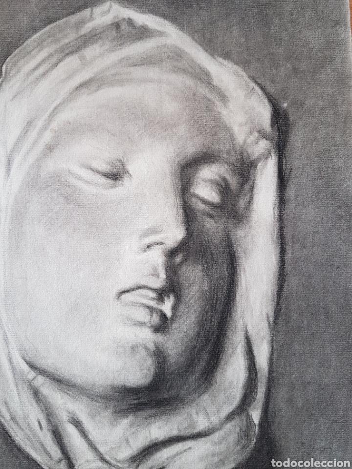Arte: Dolorosa dibujo carboncillo firmado - Foto 4 - 101205047