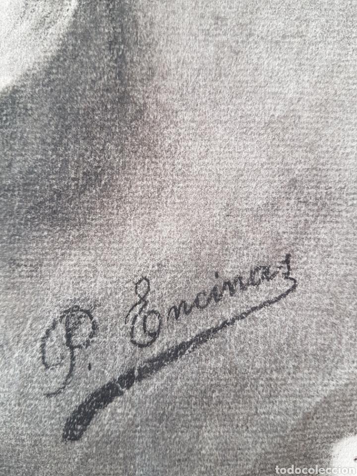 Arte: Dolorosa dibujo carboncillo firmado - Foto 5 - 101205047