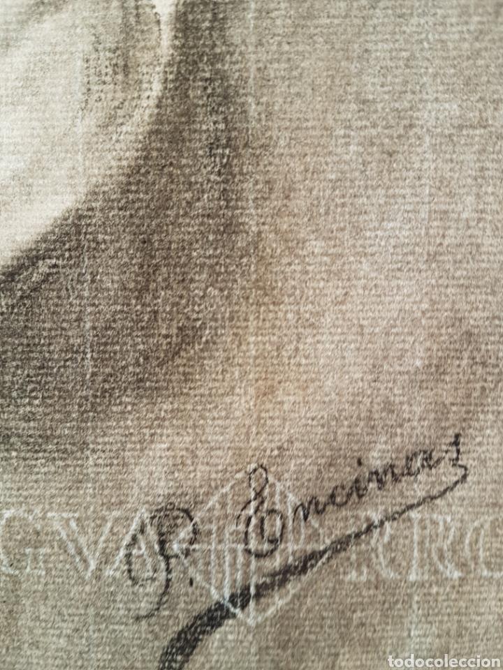 Arte: Dolorosa dibujo carboncillo firmado - Foto 6 - 101205047