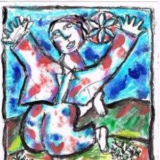 Arte: PANTEISMO - DIBUJO ORIGINAL DE FELIPE SENÉN ( GALICIA ). Lote 101526775