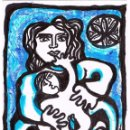 Arte: NAI DE RODEIRO / MADRE DE RODEIRO- DIBUJO ORIGINAL DE FELIPE SENÉN ( GALICIA ). Lote 101528275
