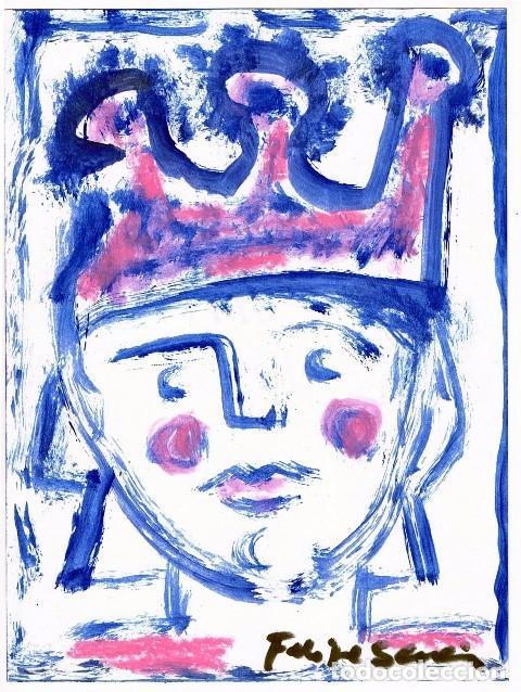 GAITEIRO TRISTE DE CORRUSEDO / GAITERO - DIBUJO ORIGINAL DE FELIPE SENÉN ( GALICIA ) (Arte - Dibujos - Contemporáneos siglo XX)