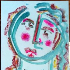 Arte: SOIDADE / SOLEDAD - DIBUJO ORIGINAL DE FELIPE SENÉN ( GALICIA ). Lote 101597415