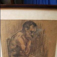 Arte: DIBUJO SOBRE PAPEL ANONIMO.CERCANO A LA OBRA DE FRANCISCO GIMENO.MUY BUEN TRAZO.. Lote 102187671