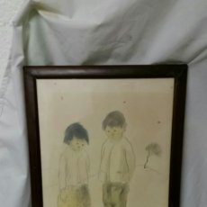Arte: BONITO DIBUJOS A LÁPIZ ORIGINAL DE RAFAEL USANDIVARAS. Lote 102267646