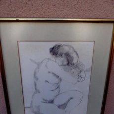 Arte: DIBUJO LÁPIZ DE PLOMO.TERESA LLACER.TONOS SUAVES.BUEN TRAZO.. Lote 102555899