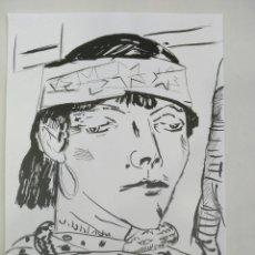 Arte: DIBUJO ORIGINAL TINTA CHINA COPIA PICASSO. Lote 102715307