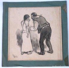 Arte: MARIANO FOIX, 1899, DIBUJO AL CARBONCILLO. 34,5X35CM. Lote 102769827
