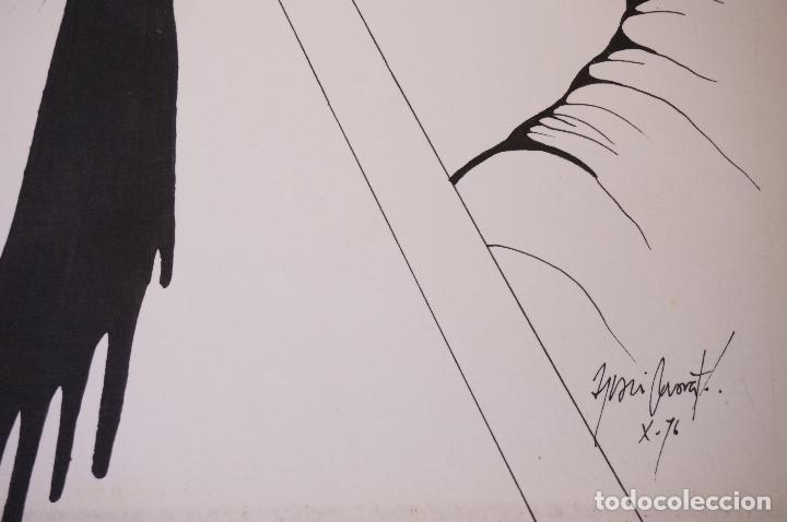 Arte: Dibujo, 1976, firma ilegible. 49,5x34cm - Foto 2 - 102781451