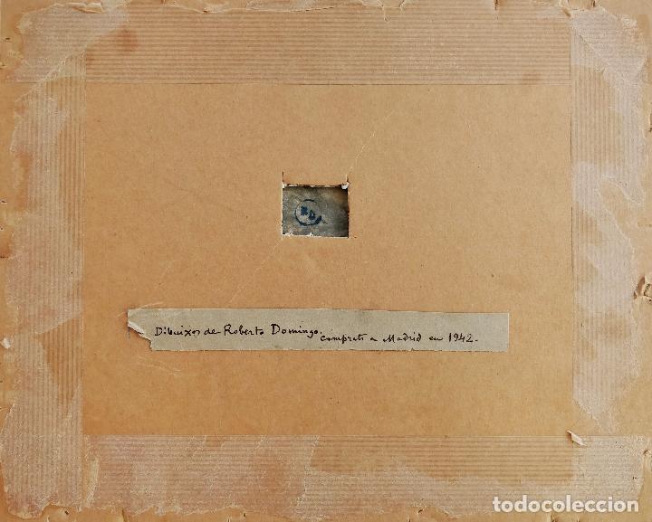 Arte: ROBERTO DOMINGO Y FALLOLA, DIBUJO ORIGINAL A TINTA, FIRMADO Y CON CUÑO SELLO DEL PINTOR - Foto 4 - 102789671