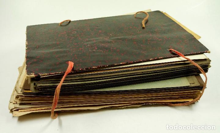 GRAN LOTE DE 156 DIBUJOS DE INTERIORISMO 1920, ACUARELAS Y DIBUJOS SOBRE PAPEL (Arte - Dibujos - Contemporáneos siglo XX)
