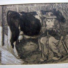Arte: DIBUJO ORIGINAL DE HENDRICUS BERN-KLENE 1870 AMSTERDAM - 1930 DUSSELDORF. Lote 102992643