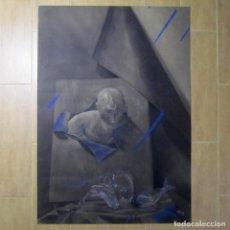 Arte: DIBUJO DE GRAN FORMATO AL CARBONCILLO FIRMA M. RASCÓN 1986, 98 X 69 CENTÍMETROS. Lote 103046495
