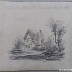 Arte: INTERESANTE DIBUJO A LAPIZ SIGLO XIX. Lote 103201943