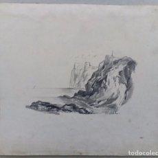 Arte: INTERESANTE DIBUJO A LAPIZ SIGLO XIX. Lote 103202075