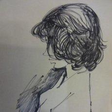 Arte: MORATÓ ARAGONES. (REUS 1923-BARCELONA 2006). BOCETO FEMENINO ORIGINAL DEL ARTISTA. 18 X 14 CTMS.. Lote 103317187