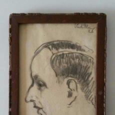 Arte: ANTIGUO RETRATO A CARBONCILLO - FIRMADO PADILLA - 1926. Lote 103416099