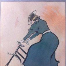 Arte: DIBUJO ORIGINAL TINTA SOBRE PAPEL FIRMADO Y ENMARCADO - RAMON CASAS I CARBO (1866-1932) - 18X22 CMTS. Lote 103426955