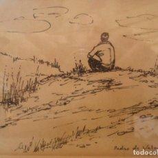Arte: DIBUJO A PLUMILLA REALIZADO POR EL ARTISTA PEDRO DE VALENCIA. Lote 103540331
