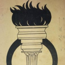 Arte: ANTORCHA OLÍMPICA. DIBUJO. TINTA SOBRE PAPEL. ANÓNIMO. ESPAÑA. CIRCA 1920. Lote 103605139