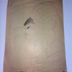 Arte: RETRATO DE HOMBRE. CARICATURA. GRAFITO SOBRE PAPEL. FIRMADO SUNYOL. ESPAÑA. 1913. Lote 103696815
