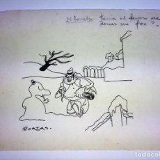 Arte: CARICATURA HUMORÍSTICA. TINTA SOBRE PAPEL. FIRMADO PORTAS ((JOSEP?). ESPAÑA. XX. Lote 103697423