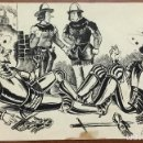 Arte: DIBUJO ORIGINAL HUMORÍSTICO FIRMADO 'V. BADALONA' AÑO 1944. 15 X 22,5 CM. PLUMILLA.. Lote 103703983