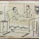Arte: DIBUJO ORIGINAL HUMORÍSTICO FIRMADO 'ROLDÓS'. AÑO 1944. 17 X 23,5 CM.. Lote 103705527