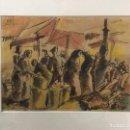 Arte: DIBUJO ORIGINAL. ACUARELA DE BON (ROMA BONET). REUS 14-8-41. FIRMADO. ESCENA MERCADO.. Lote 103706423