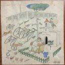 Arte: DIBUJO ORIGINAL TINTA Y ACUARELA DE V. CASTANYS. 1933 VILLA PAQUITA. 23,5 X 23,5 CM.. Lote 103706683