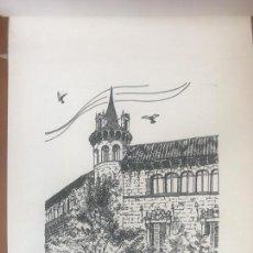 Arte: DIBUJO A TINTA DE ANTONI MORALES 1984 PALAU SERRA RAMBLA DE CATALUÑA. . Lote 103937447