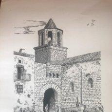 Arte: DIBUJO A TINTA DE ANTONIO MORALES 1981. PRADES , TARRAGONA .. Lote 103937763