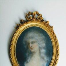 Arte: ESCUELA FRANCESA FINALES DEL XVIII, RETRATO DE ÉLISABETH VIGÉE LE BRUN. PASTEL.. Lote 104058411