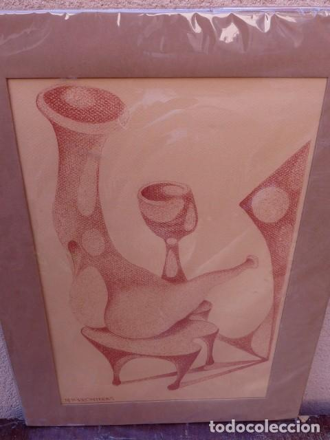 DIBUJO SOBRE CARTULINA.FIRMA ILEGIBLE (Arte - Dibujos - Contemporáneos siglo XX)