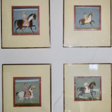Arte: CABALLOS INDIOS 24*24 RAJASTAN S/XVIII . Lote 104196995