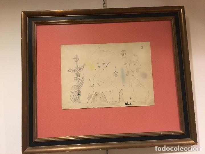 JOAN PONÇ TINTA DAU AL SET, ETIQUETA MUSEO PRADO (Arte - Dibujos - Contemporáneos siglo XX)