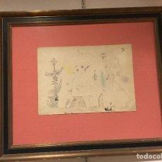Arte: JOAN PONÇ TINTA DAU AL SET, ETIQUETA MUSEO PRADO. Lote 104214947