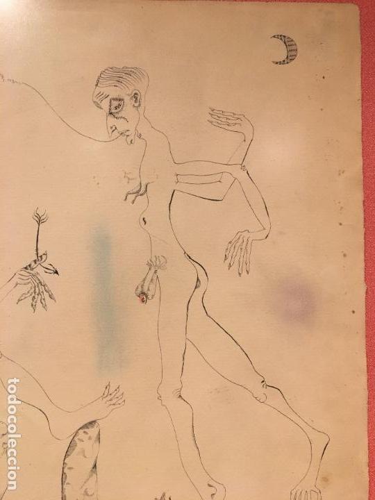 Arte: Joan ponç tinta Dau al set, etiqueta museo prado - Foto 2 - 104214947