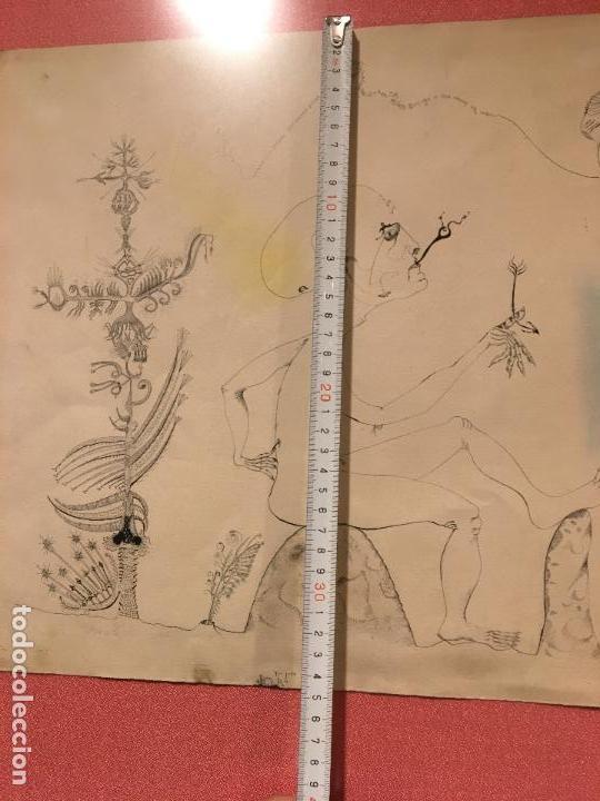 Arte: Joan ponç tinta Dau al set, etiqueta museo prado - Foto 5 - 104214947
