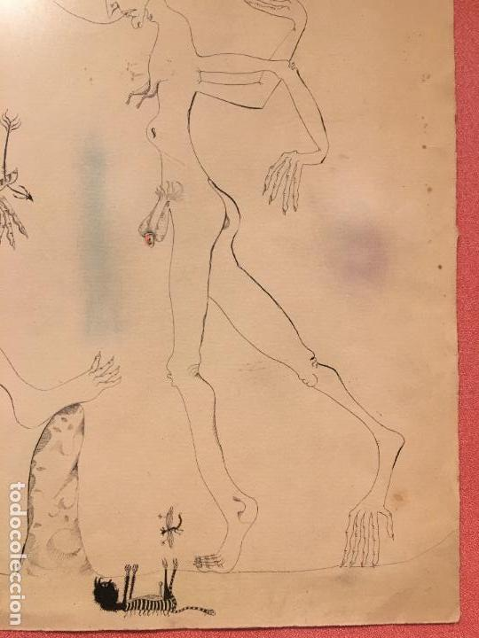 Arte: Joan ponç tinta Dau al set, etiqueta museo prado - Foto 6 - 104214947